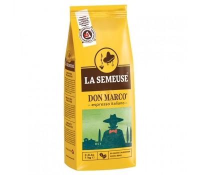 Кофе La Semeuse Don Marco (80% Арабика, 20% Робуста) 1кг